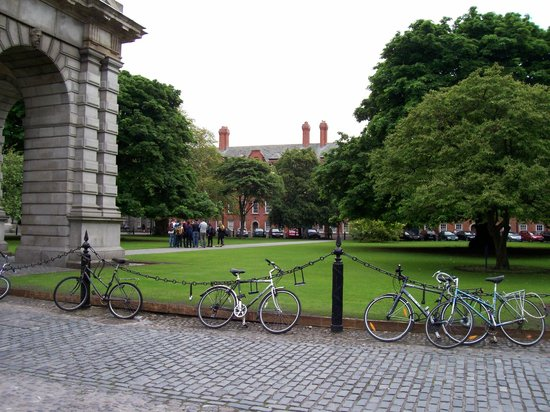 The Book of Kells and the Old Library Exhibition: The green near the Old Library