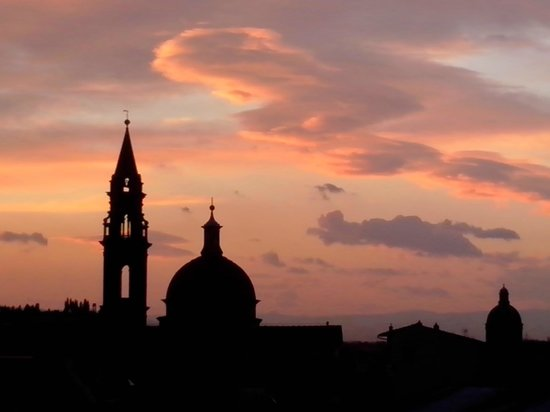 Hotel Restaurant  La Scaletta : sunst on the terrasse