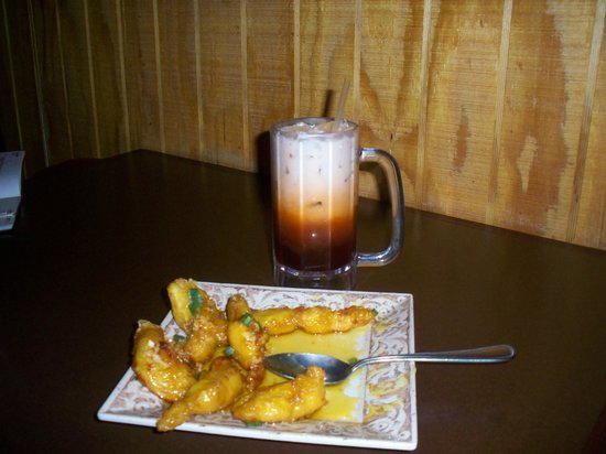 Thai Thai Cuisine: The Thai Tea and Orange Chicken were the highlights of the meal.