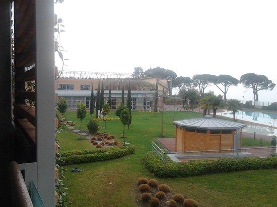 Hotel Corte Valier: vista dalla camera del ristorante