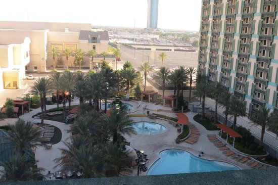 The Orleans Hotel & Casino: View From Room Overlooking Pool Area