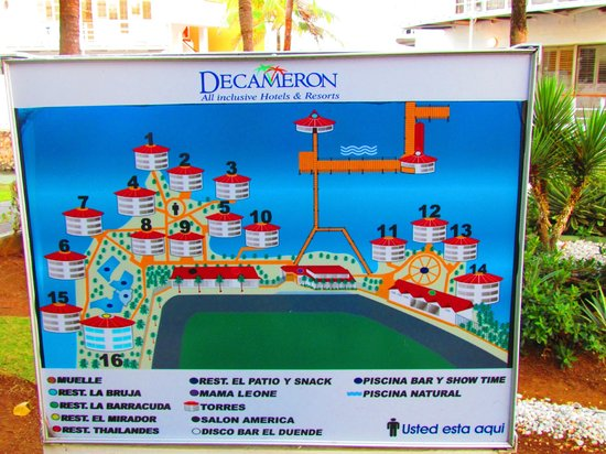 Royal Decameron Aquarium : Mapa del hotel / Map of the Hotel
