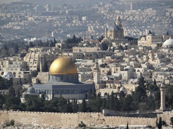 Altstadt von Jerusalem: The Dome of the Rock from the Mount of Olives