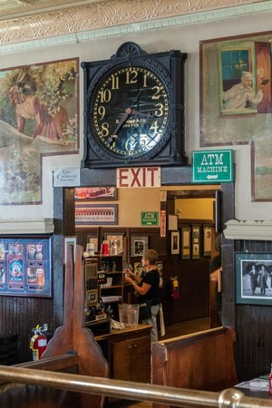 Doyle's Cafe : Clock & Doorway to 2 More Rooms