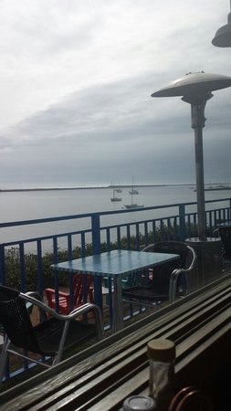 Sam's Chowder House: Beautiful view of ocean