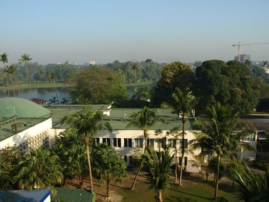 Inya Lake Hotel, Yangon: our view from balcony