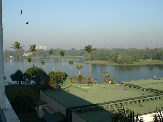 Inya Lake Hotel, Yangon: view from our balcony