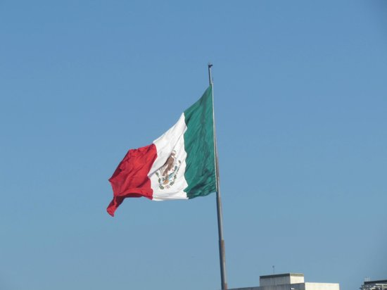 The Royal Cancun All Suites Resort: meicos flag from our room