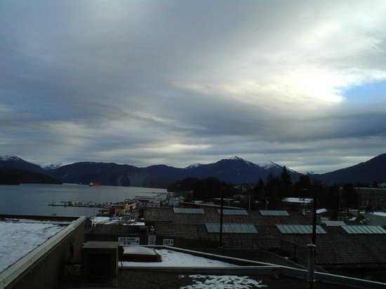 Crest Hotel: a cloudy day in Prince Rupert