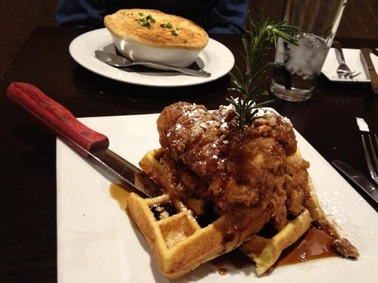 Brooklyn's Contemporary Comfort Food: amazing chicken and waffles plus chicken pot pie