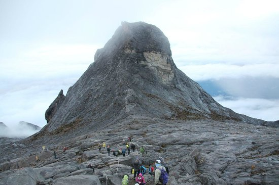 Mount Kinabalu: Towards the summit -Low's peak- in the early morning