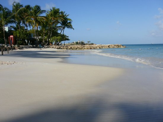 Antigua Village: Beach in the am