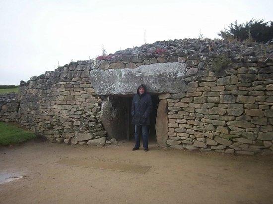 Site des Mégalithes de Locmariaque : La table des marchands ( vue du dehors )