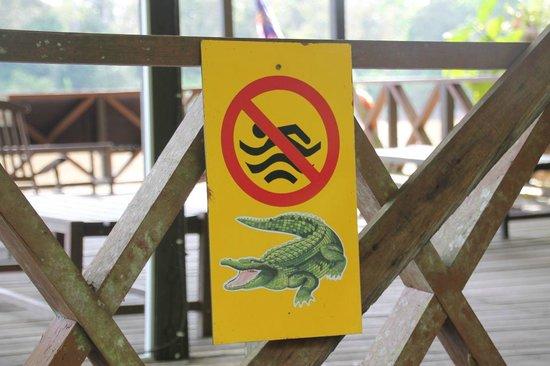 Borneo Nature Lodge: Don't feed the crocodiles