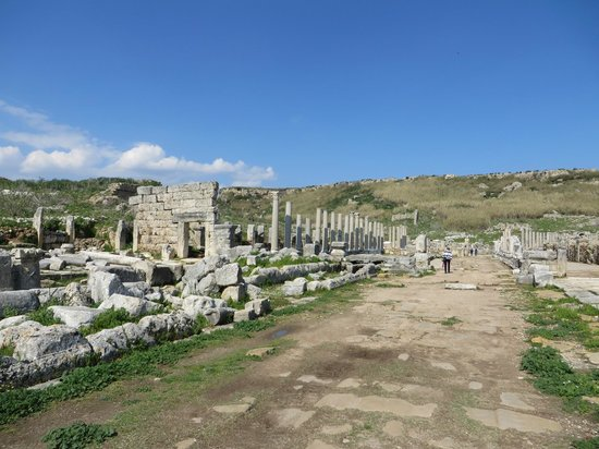 Perge Ancient City : The street ends at the hill in the distance.