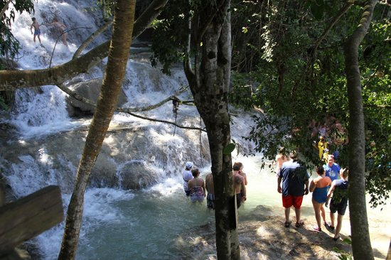 Dunn's River Falls and Park: on s'accroche