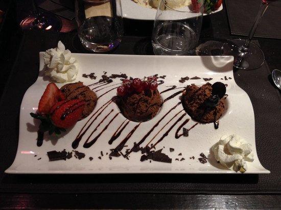 dessert mousse au chocolat picture of la piazzetta koksijde bad tripadvisor