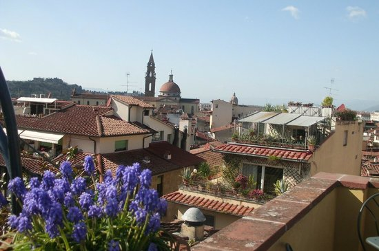 Hotel Restaurant  La Scaletta: La vista dalla terrazza!