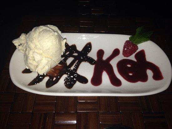 Koh Restaurant & Cocktail Lounge: Desert