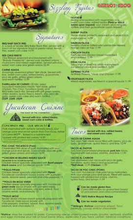 CARLOS1800 Mexican Grill : FAJITAS & YUCATECAN CUISINE