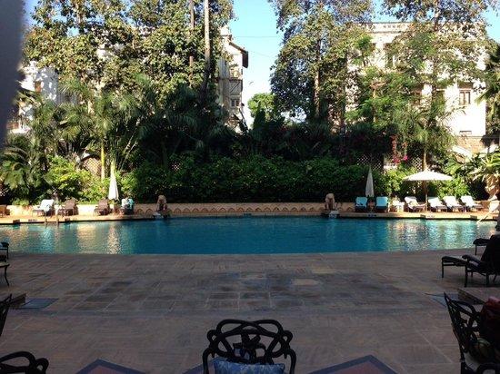 The Taj Mahal Palace: The pool outside the breakfast veranda