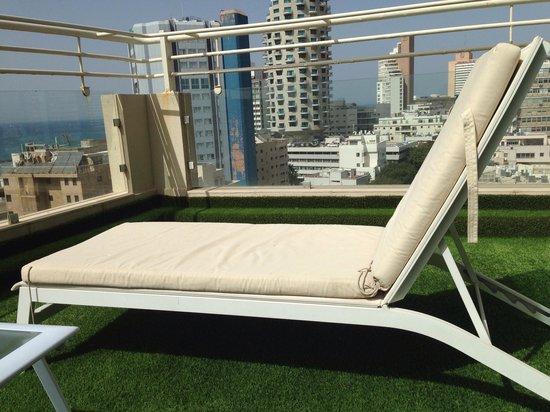Mercure Tel-Aviv City Center: Terrasse chambre privilège