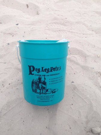 Peg Leg Pete's: Kids meal comes in nifty bucket for sand castles at play area