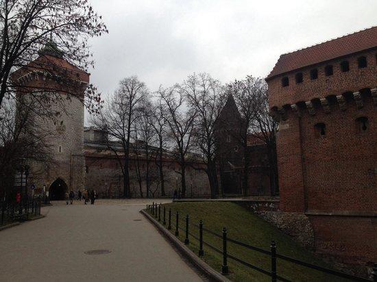 Hotel Matejko: Porte des remparts à 1' à pied de l'hôtel.
