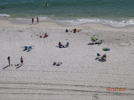 Wyndham Vacation Resorts Panama City Beach: Beach from my balcony