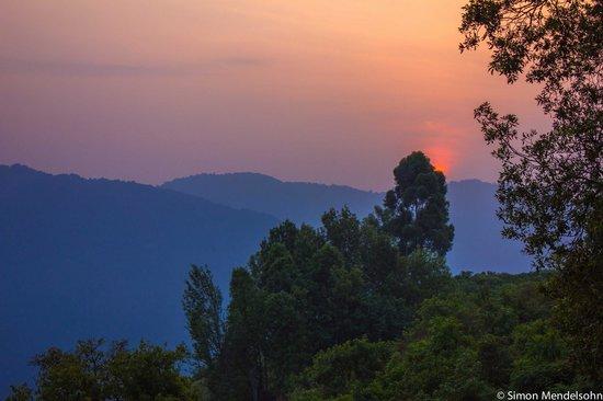 Nkuringo Bwindi Gorilla Lodge: Sunrise over Bwindi Impenetrable Forest