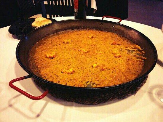 El Bolon Verde Restaurante : Fideuá bajita y con fideo fino