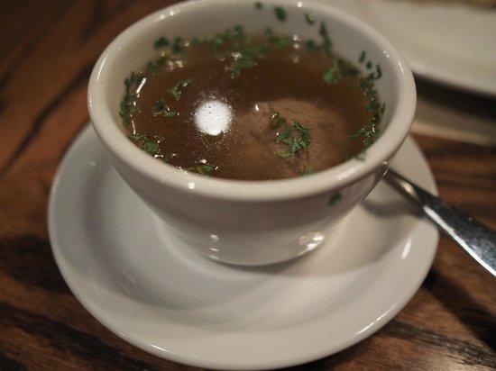 The Bavarian Lodge: Leberknödel suppe - liver dumpling soup