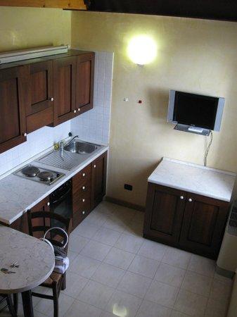 Villa Ferri : vista cucina dell'appartamento 4