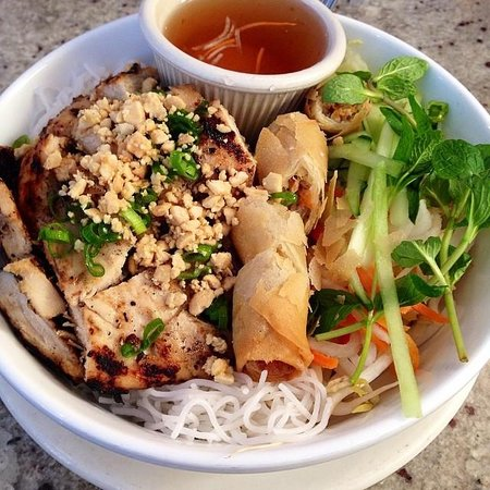 Asian Chicken Over Vermicelli