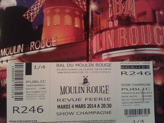 Tickets For The Show Picture Of Moulin Rouge Paris