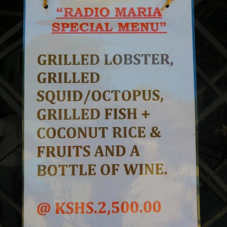 Radio Maria Bar & Restaurant: Radio Maria