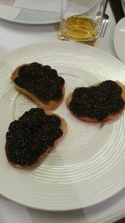 L'Inedit : tartine foie gras truffes fraiches