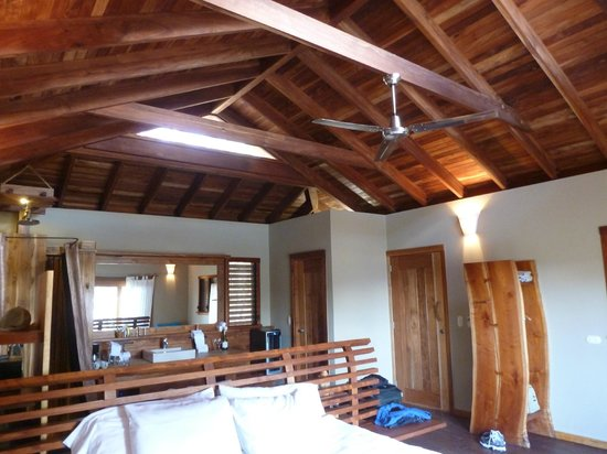Aqua Wellness Resort: villa is one room with exposed wood ceilings