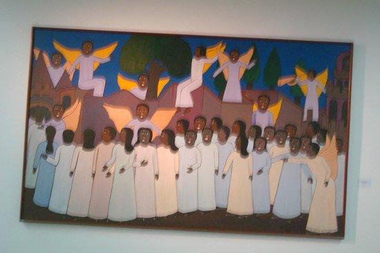 """Goiania Art Museum : W. de Deus,""""Os que vieram da grande aflição"""",óleo sobre tela"""