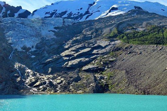 Glaciar Huemul: Vista de parte del Glaciar