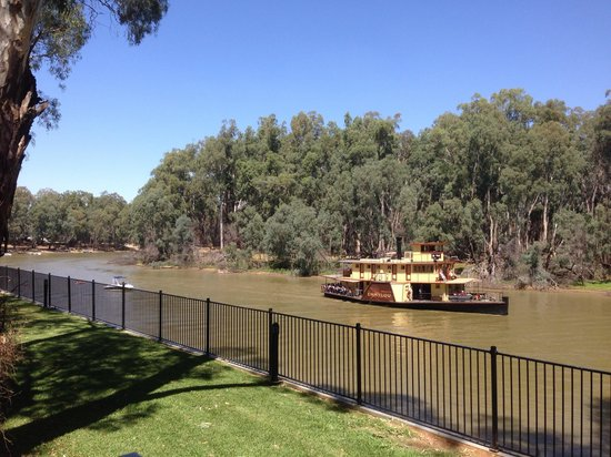 Discovery Parks – Maidens Inn, Moama: View from the deck of our cabin.