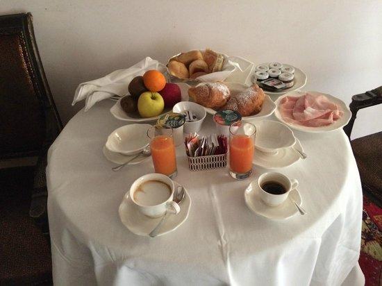 Il Sogno di Giulietta: colazione in camera