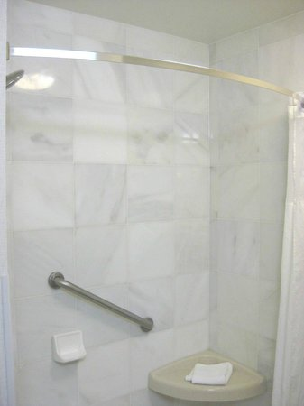 large walk-in shower, curved curtain rod - Picture of Drury Inn ...