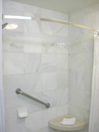 large walk in shower curved curtain rod picture of drury inn suites valdosta valdosta. Black Bedroom Furniture Sets. Home Design Ideas