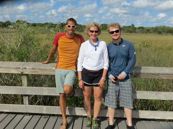 Tours in the Glades: Jeremy, Teresa and Patrick at the Ahinga Trail