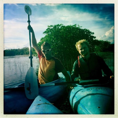 Tours in the Glades: Jeremy and Patrick kayaking the mangroves