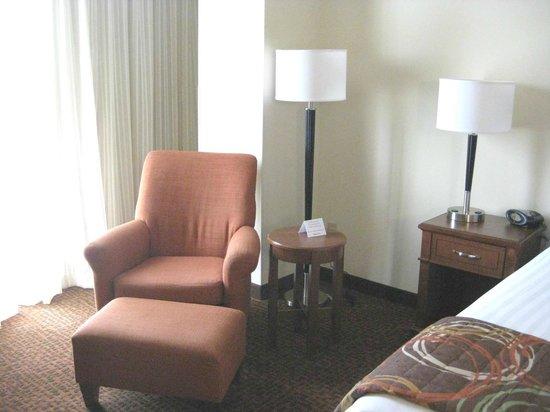 Drury Inn & Suites Valdosta : chair & reading lamp