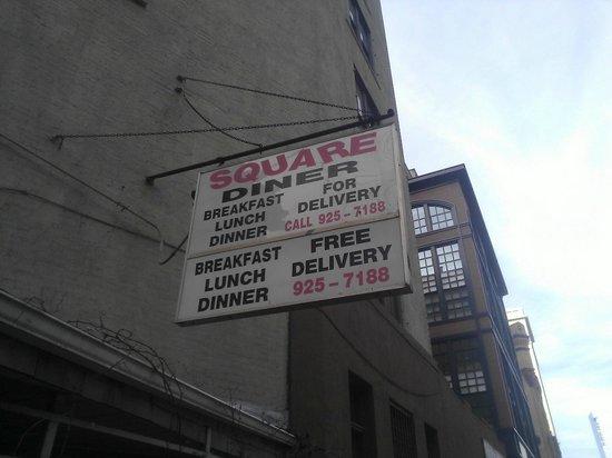 Square Diner : Square Sign