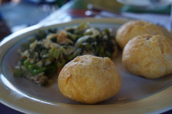 Little Bay Cabins: Callaloo and Salt fish- A MUST!