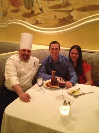 Capriccio : We were honored to have Chef Steve check on us at our table!